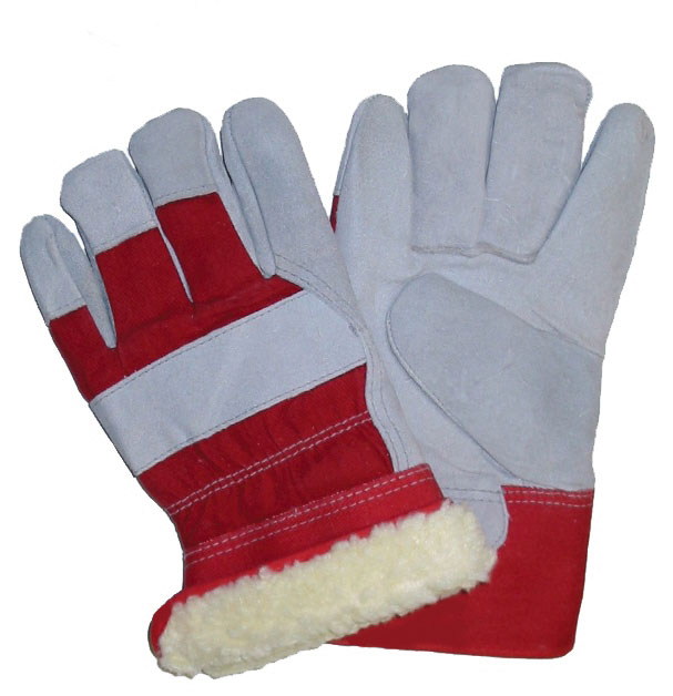 Grain Cowhide Patch Palm Fitters Gloves